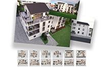 hd-3dvis-mehrfamilienvisualisierung-rendering-3X3D visualisierung + 6X3D Grundriss-preis