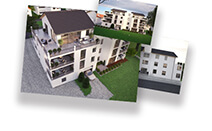 hd-3dvis-mehrfamilienvisualisierung-rendering-3X3D visualisierung-preis